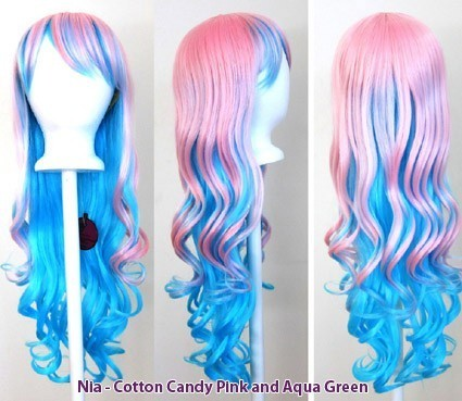 Nia - Cotton Candy Pink and Aqua Green