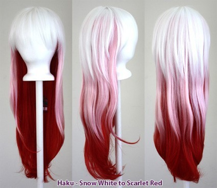Haku - Fade Snow White to Scarlet Red