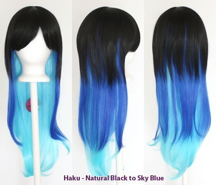 Haku - Fade Natural Black to Sky Blue