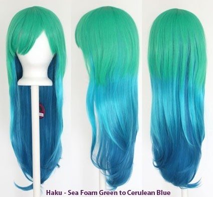 Haku - Fade Sea Foam Green to Cerulean Blue
