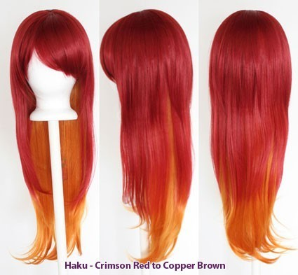 Haku - Fade Crimson Red to Copper Brown