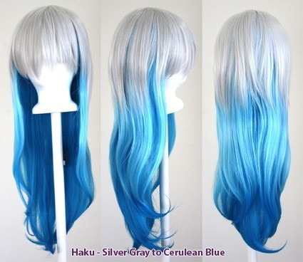 Haku - Fade Silver Gray to Cerulean Blue