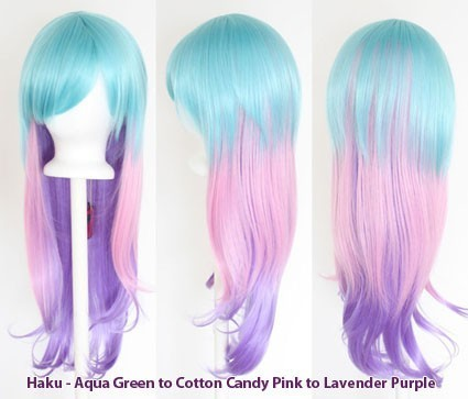 Haku - Fade Aqua Green to Cotton Candy Pink to Lavender Purple