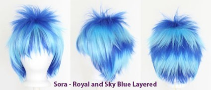 Sora - Royal and Sky Blue Layered