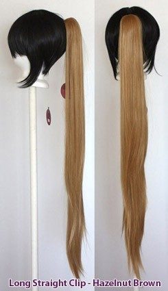 Long Straight Clip - Hazelnut Brown