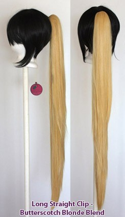 Long Straight Clip - Butterscotch Blonde Blend