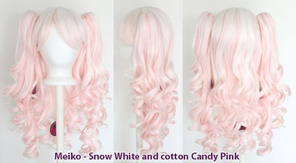 Meiko - Snow White and Cotton Candy Pink Mixed Blend