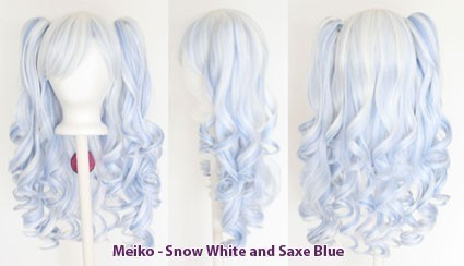 Meiko - Snow White and Saxe Blue Mixed Blend