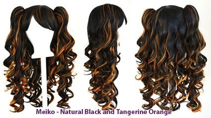 Meiko - Natural Black and Tangerine Orange Mixed Blend