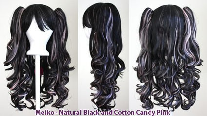 Meiko - Natural Black and Cotton Candy Pink Mixed Blend
