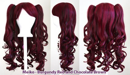 Meiko - Burgundy Red and Chocolate Brown Mixed Blend