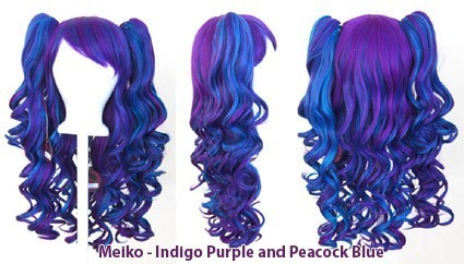 Meiko - Indigo Purple and Peacock Blue Mixed Blend
