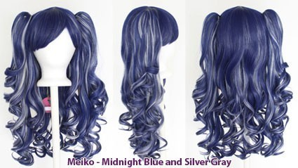 Meiko - Midnight Blue and Silver Gray Mixed Blend