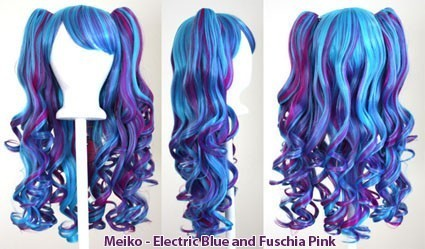 Meiko - Electric Blue and Fuschia Pink Mixed Blend