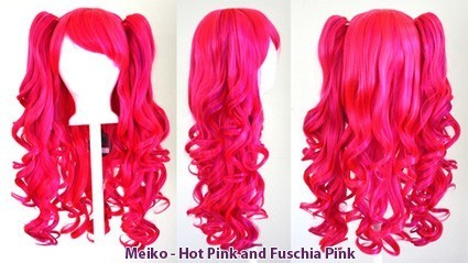Meiko -Hot Pink and Fuschia Pink Mixed Blend