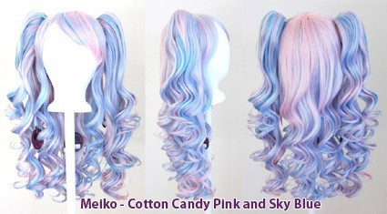 Meiko - Cotton Candy Pink and Sky Blue Mixed Blend
