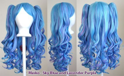 Meiko - Sky Blue and Lavender Purple Mixed Blend