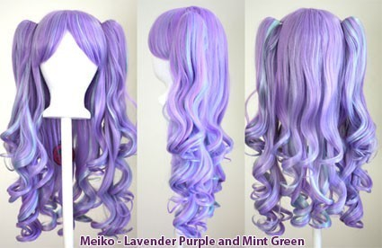 Meiko - Lavender Purple and Mint Green Mixed Blend