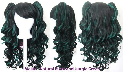 Meiko - Natural Black and Jungle Green Mixed Blend
