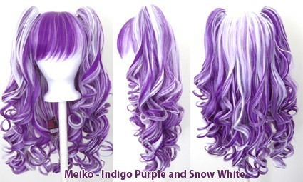 Meiko - Indigo Purple and Snow White Mixed Blend