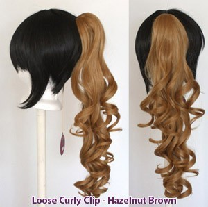 Loose Curly Clip - Hazelnut Brown