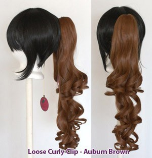 Loose Curly Clip - Auburn Brown