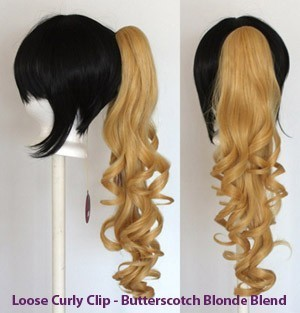 Loose Curly Clip - Butterscotch Blonde Blend