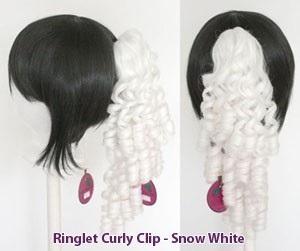 Ringlet Curly Clip - Snow White