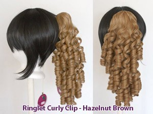 Ringlet Curly Clip - Hazelnut Brown