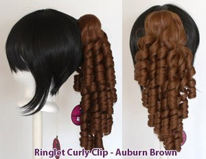 Ringlet Curly Clip - Auburn Brown