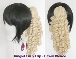 Ringlet Curly Clip - Flaxen Blonde