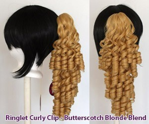 Ringlet Curly Clip - Butterscotch Blonde Blend
