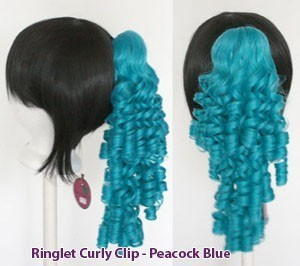 Ringlet Curly Clip - Peacock Blue