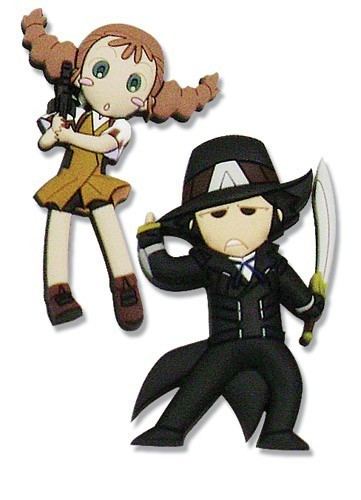 Gun X Sword Van and Wendy Pin Set