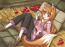 Spice and Wolf Holo with Apples Wall Scroll (U.S. Customers Only)