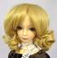 Doll Wig Short Ringlets Golden Blond