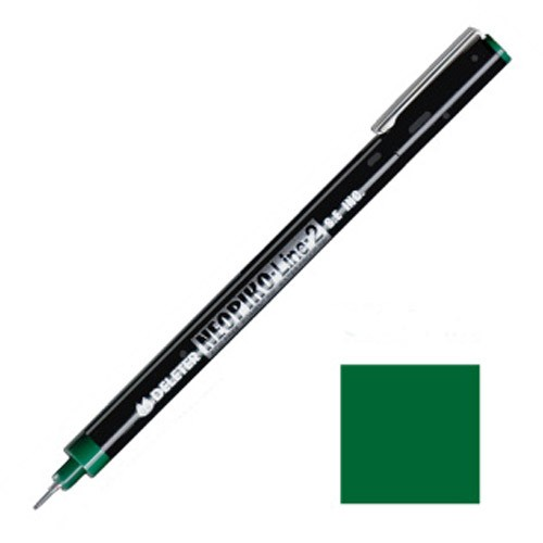 NEOPIKO-Line-2 Olive Single Outline Pen Deleter