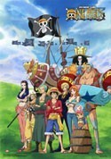 One Piece New World Group EbiVibe Wall Scroll (27.8 x 19.7 inches)