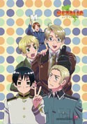 Hetalia Axis Powers Group w/ Polka Dots EbiVibe Wall Scroll (27.8 x 19.7 inches)