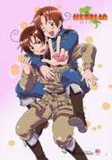 Hetalia Axis Powers Italy and Romano EbiVibe Wall Scroll (27.8 x 19.7 inches)