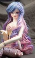 Doll Wig Ayumi - Saxe Blue Fade Cotton Candy Pink Fade Lavender
