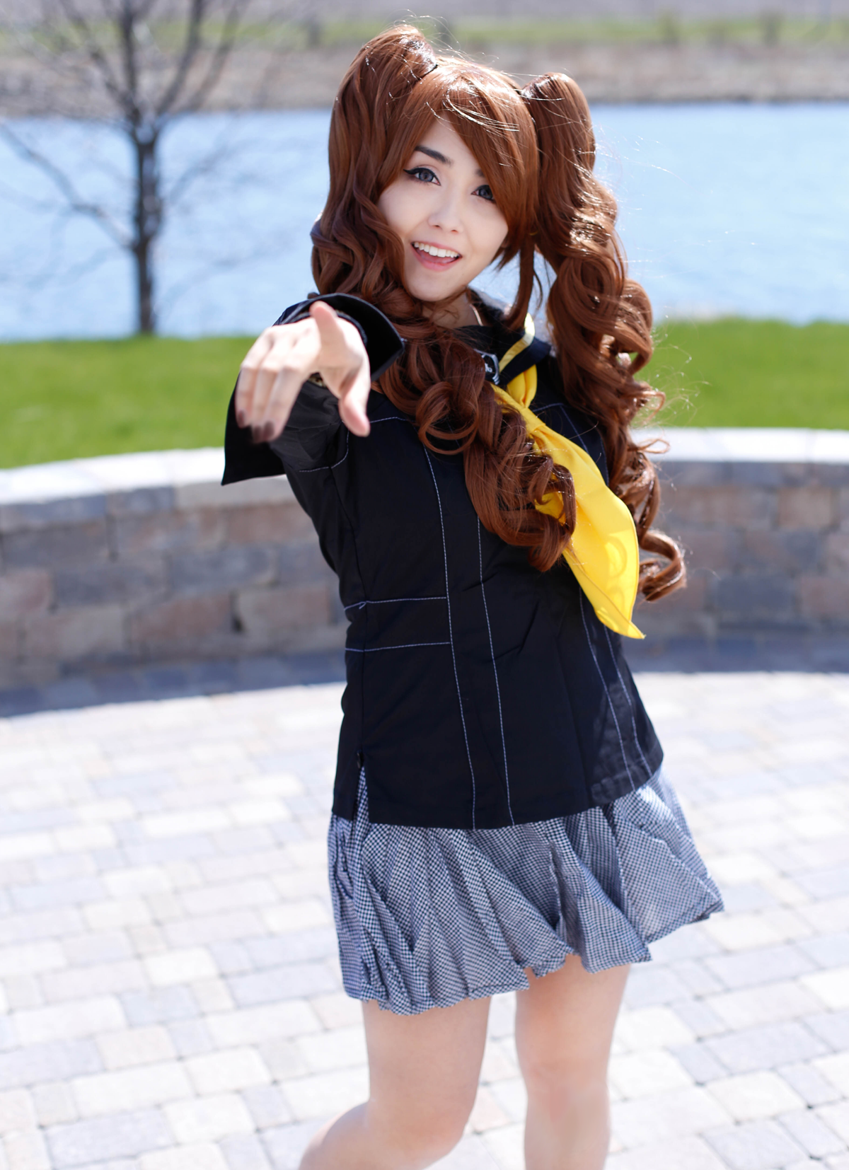 Persona 4 Women's Winter Uniform Cosplay Costume