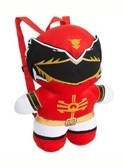 Power Rangers 15'' Red Ranger Plush Back Pack Bag