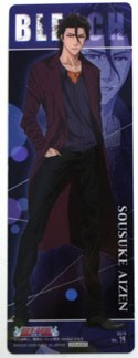 Bleach Aizen Plastic Trading Book Mark