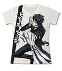 Black Butler Sebastian Action White Junior's T-Shirt