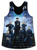 Fullmetal Alchemist Military Group Black Junior's Tank Top