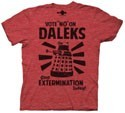 Dr. Who Vote No On Daleks Men's T-Shirt Red