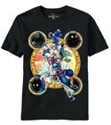 Kingdom hearts Mural Group Navy Blue T-Shirt Men's
