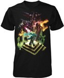 Minecraft Dragon Fight T-Shirt Men's