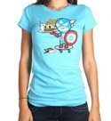 Tokidoki X Marvel Captain American Cement T-Shirt Blue Women's